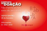 Participe da campanha de doação de sangue 2018