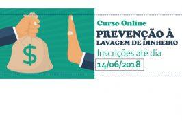 UNICRECI/DF: Curso online gratuito de PREVENÇÃO À LAVAGEM DE DINHEIRO