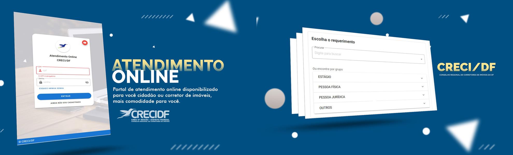 Plataforma de atendimento online CRECI-DF