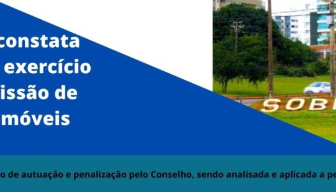 Fiscalização constata facilitação por exercício ilegal da profissão de corretor de imóveis